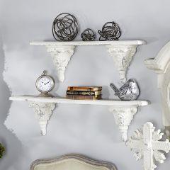 Vintage Inspired Floating Wall Shelf