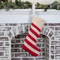 Vintage Inspired Lace Wrapped Stocking Set of 2