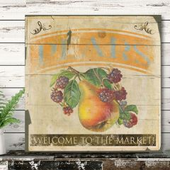 Vintage Inspired Pear Wall Decor
