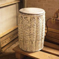 Vintage Inspired Pressed Tin Stool