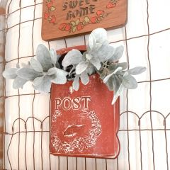 Red Vintage Inspired Mail Box