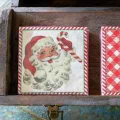 Vintage Inspired Santa Beverage Napkins Bundle