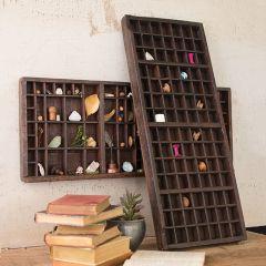 Vintage Inspired Wood Printers Tray