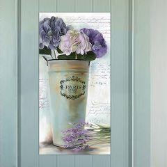 Lavender Floral Wall Art