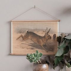 Vintage Reproduction Hanging Rabbit Scroll