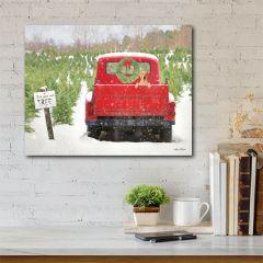 Vintage Truck Tree Farm Canvas Wall Art