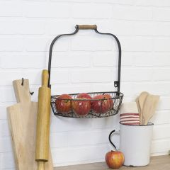Wall Mounted Metal Half Basket With Handle