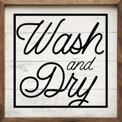 Wash Dry Square Wall Sign