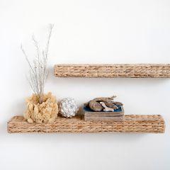 Water Hyacinth Woven Wall Shelf