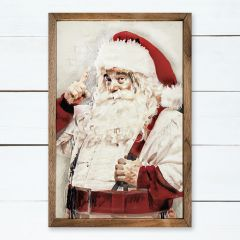 Watercolor Mr. Claus Wall Art