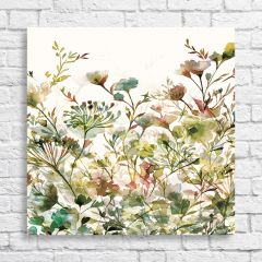 Watercolor Style Floral Wall Art
