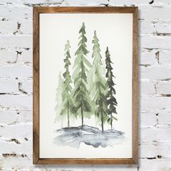 Watercolor Style Pines Wall Art