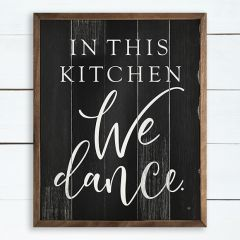We Dance Wall Sign