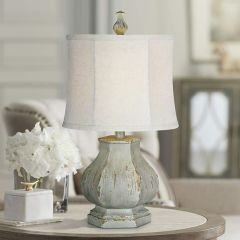 Weathered Classic Cottage Style Table Lamp