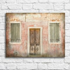 Weathered Door and Windows Wall Art