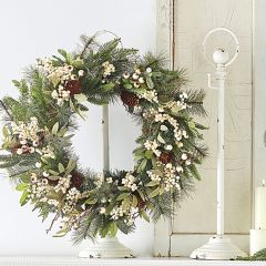 Weathered Metal Wreath Stand