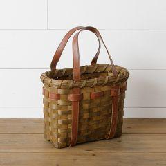 Weaved Wood Bag With Handles