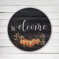 Welcome Pumpkin Cutout Sign