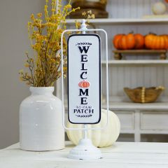 Welcome To Our Patch Tabletop Sign