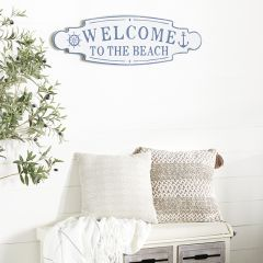 Welcome To The Beach Coastal Wall Sign