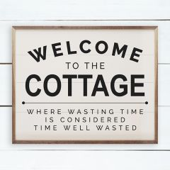 Welcome To The Cottage Wall Art