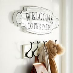 Welcome To The Farm Metal Plaque Sign