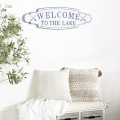 Welcome To The Lake Coastal Wall Sign