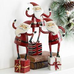 Whimsical Gift Dancing Santa Set of 3