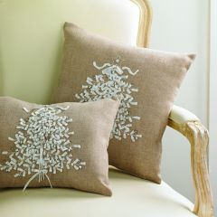White Christmas Tree Neutral Accent Pillow 14 Inch