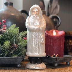 White Mercury Glass Belsnickel Santa