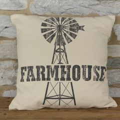 Windmill Graphic Throw Pillow