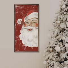 Winking Santa Red Wall Art