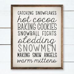 Winter Favorites Framed Sign