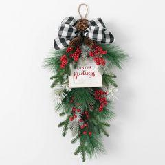 Winter Greetings Pine Berry Swag