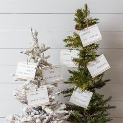 Winter Quotes Beadboard Ornaments Set of 7