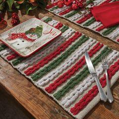 Winter Scarf Textured Placemat Bundle