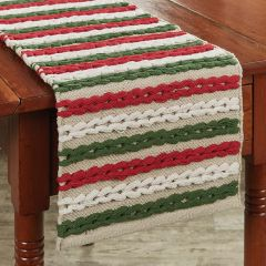 Winter Scarf Textured Table Runner