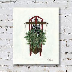 Winter Sled Canvas Art