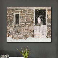 Winter Stable With Horse Wall Art