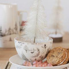 Winter Woodland Stoneware Bowl Set of 4