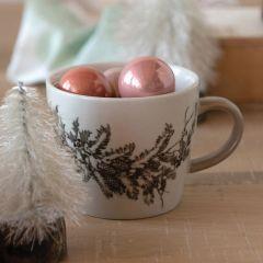 Winter Woodland Stoneware Mug Set of 4