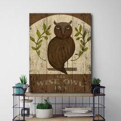 Wise Owl Canvas Wall Art