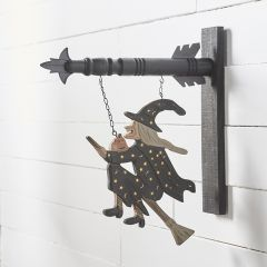 Witch on Broomstick Arrow Sign Replacement