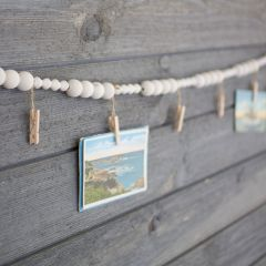 Wooden Bead With Clothespin Garland, Set of 2