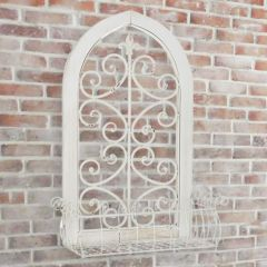 Wooden Scrolled Arch With Basket