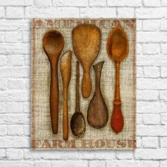Wooden Spoons Canvas Wall Art