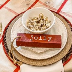 Wooden Word Ornaments Set of 8