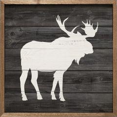 Woodland Moose Framed Wall Art