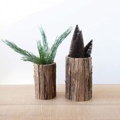 Woodland Tree Bark Planter Set of 2