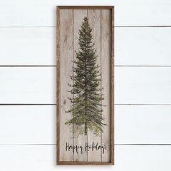 Woodland Tree Happy Holidays Wall Art